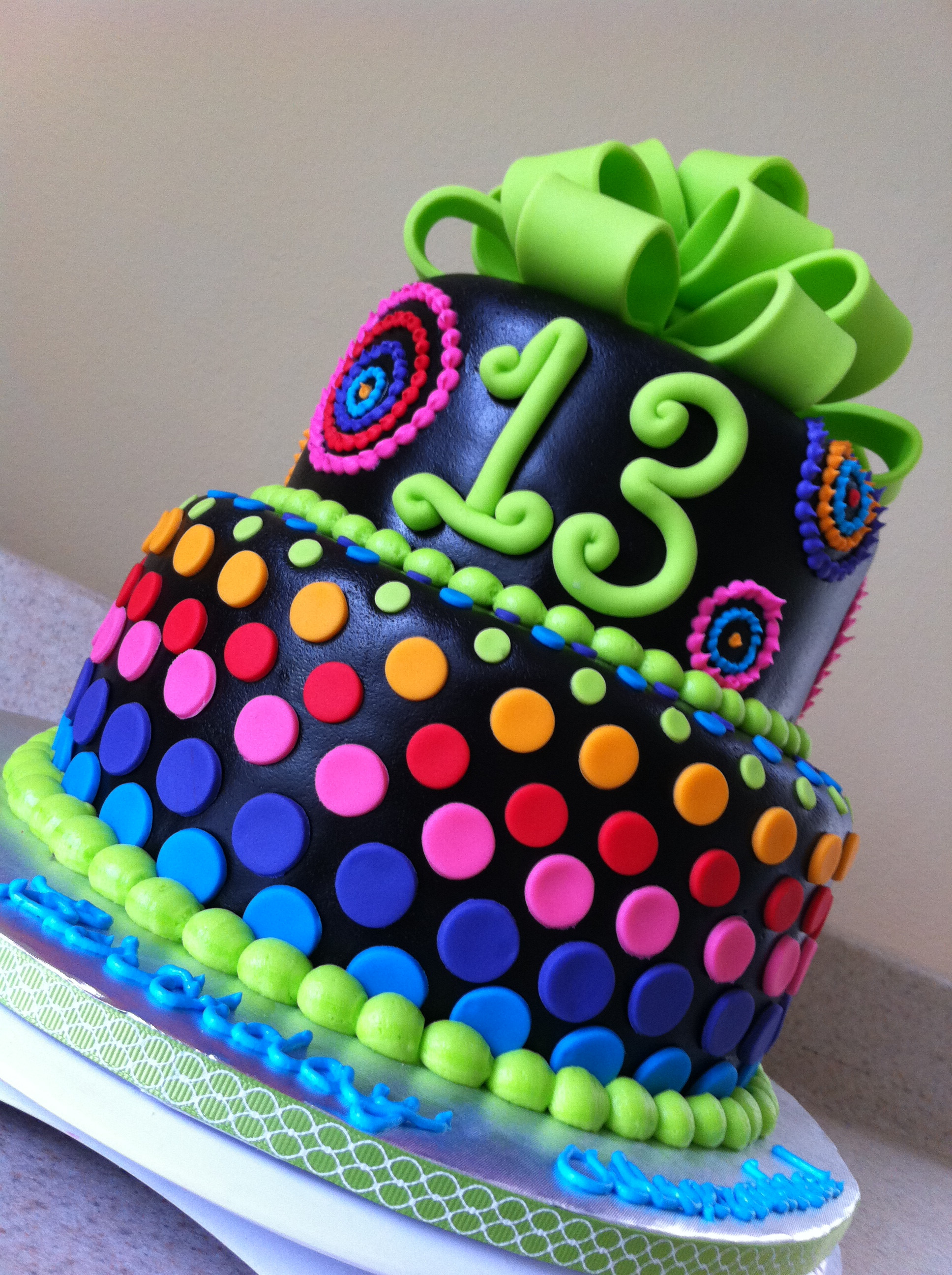 Best ideas about 13 Birthday Cake . Save or Pin Psychadelic rainbow birthday cake Now.