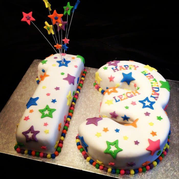 Best ideas about 13 Birthday Cake . Save or Pin 13th Birthday stars cake cake by Caron Eveleigh CakesDecor Now.
