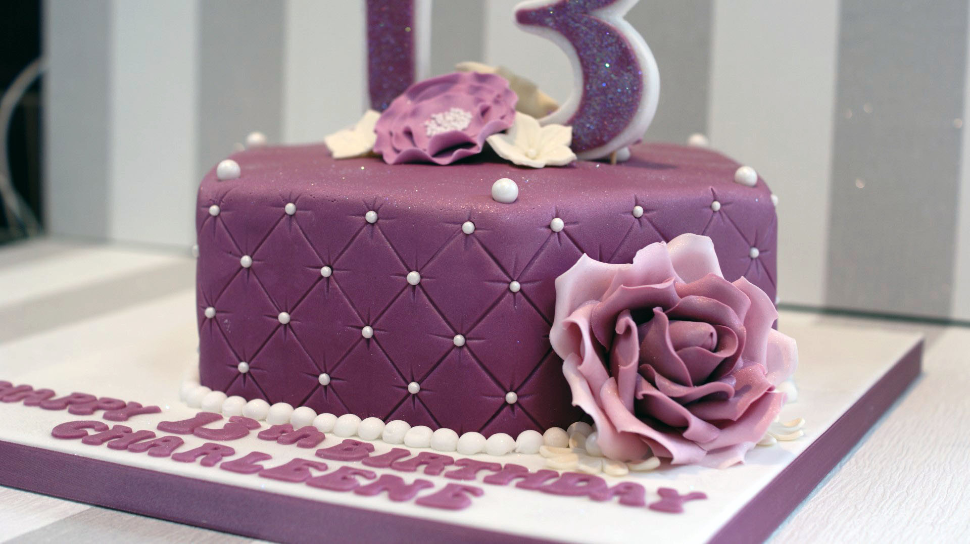 Best ideas about 13 Birthday Cake . Save or Pin Pretty 13th Birthday Cake Bakealous Now.