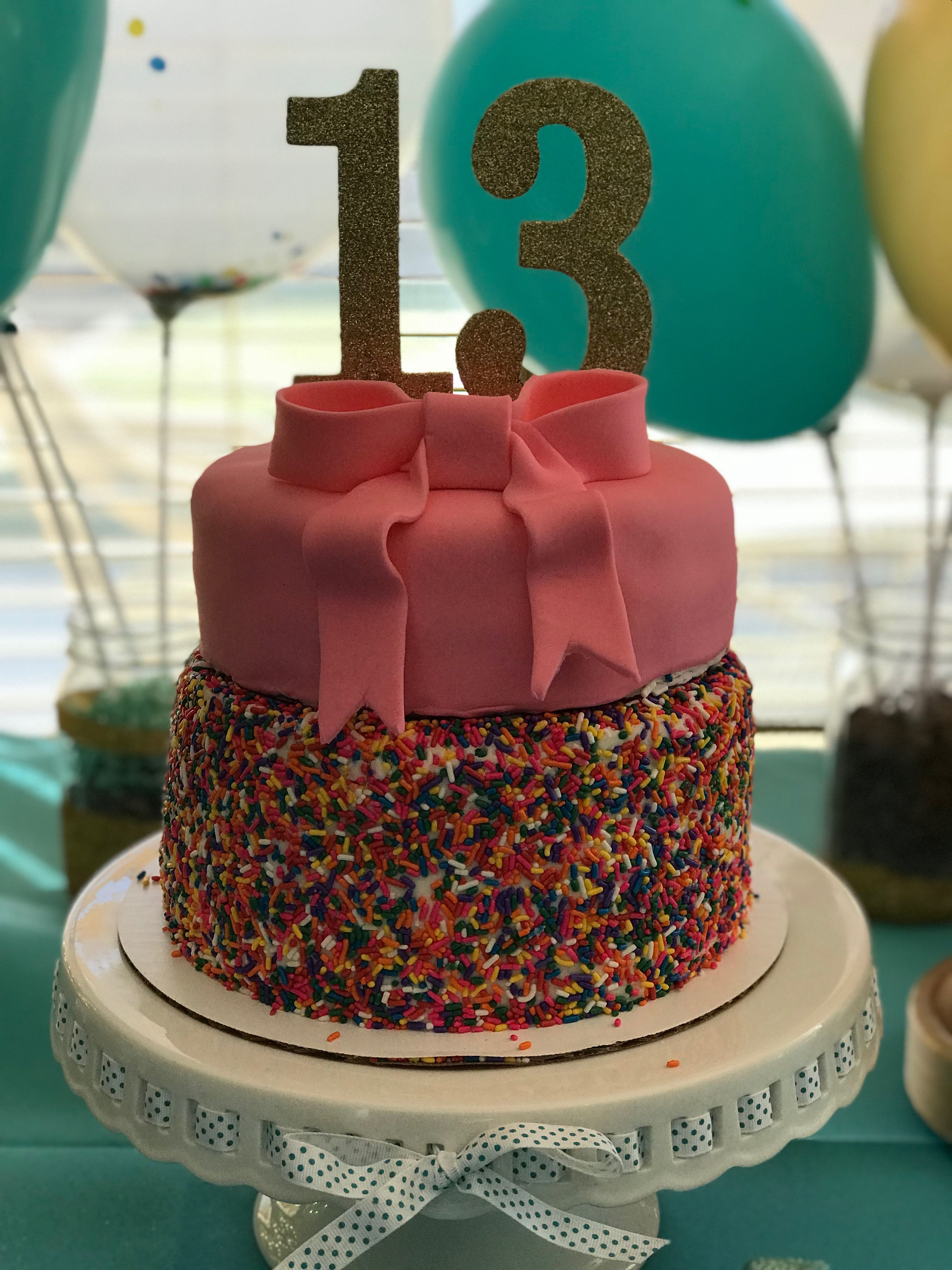 Best ideas about 13 Birthday Cake . Save or Pin Sprinkle Birthday cake for 13 year old girl Now.