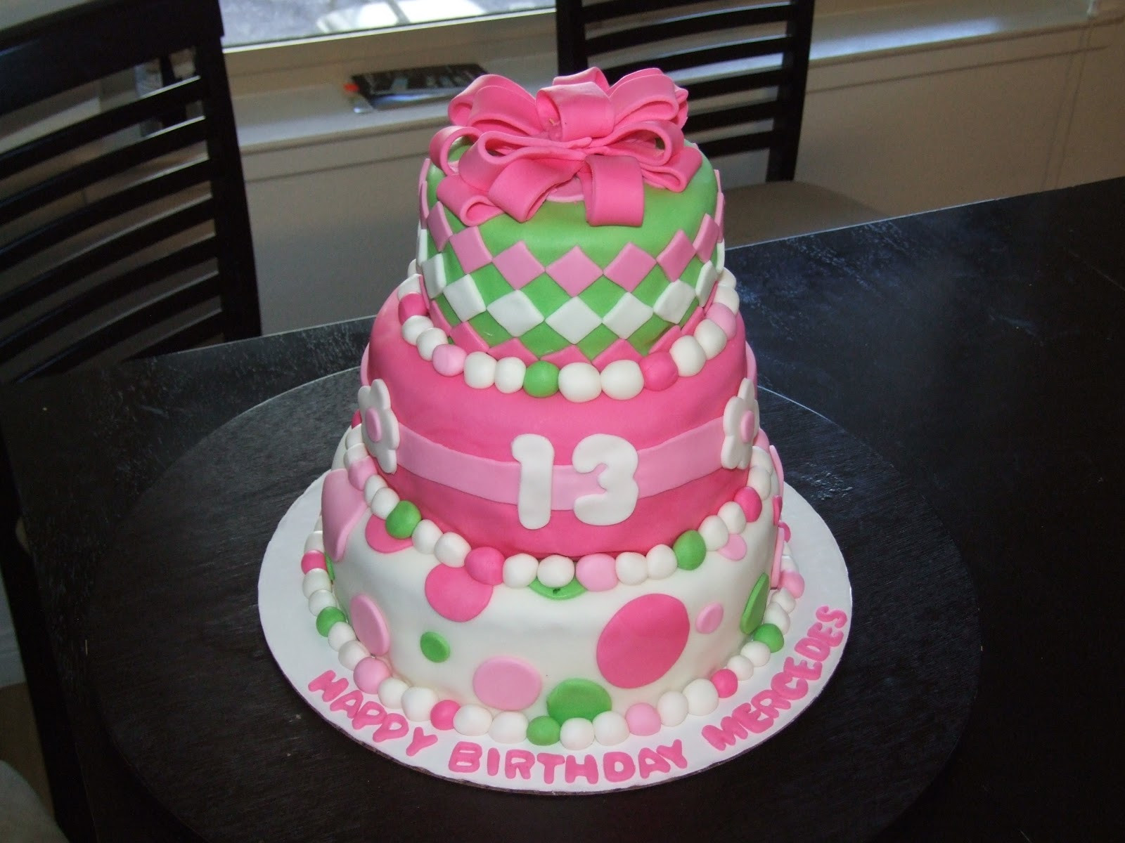 Best ideas about 13 Birthday Cake . Save or Pin Three Sweet Cakes 13th Birthday Cake Now.