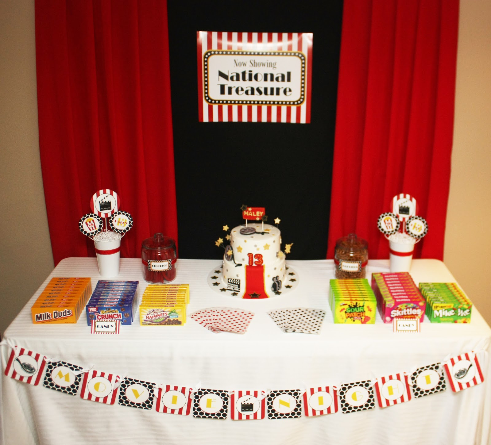 Best ideas about 13th Birthday Decorations . Save or Pin 5M Creations Movie Night 13th Birthday Party Now.