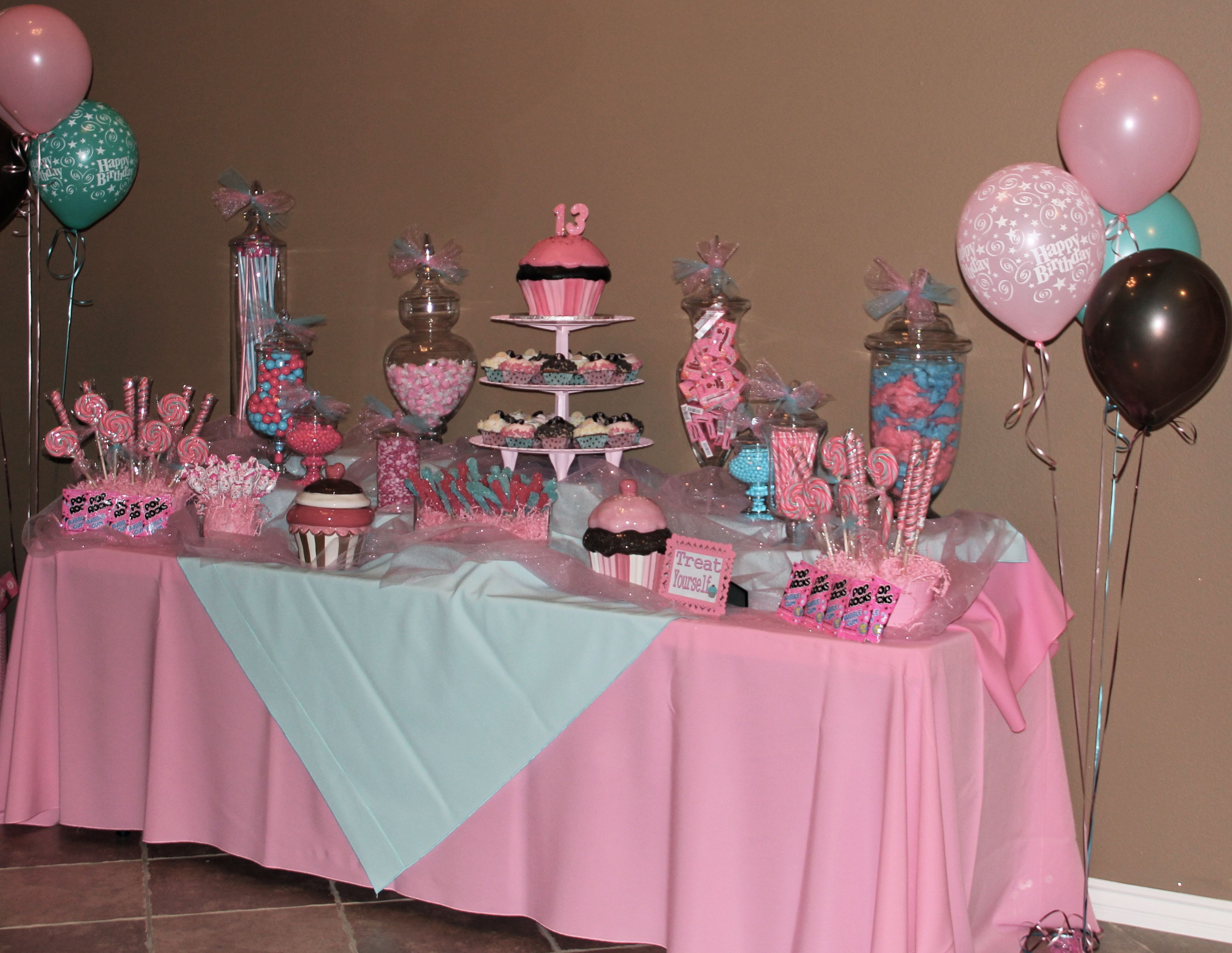 Best ideas about 13th Birthday Decorations . Save or Pin Candy Bar Tays 13th Birthday CUTE PARTY STUFF Now.