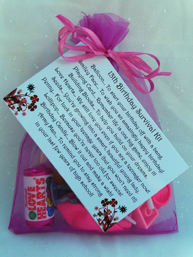 Best ideas about 13th Birthday Gifts . Save or Pin Girl s 13th Birthday Survival Kit Fun novelty t with Now.