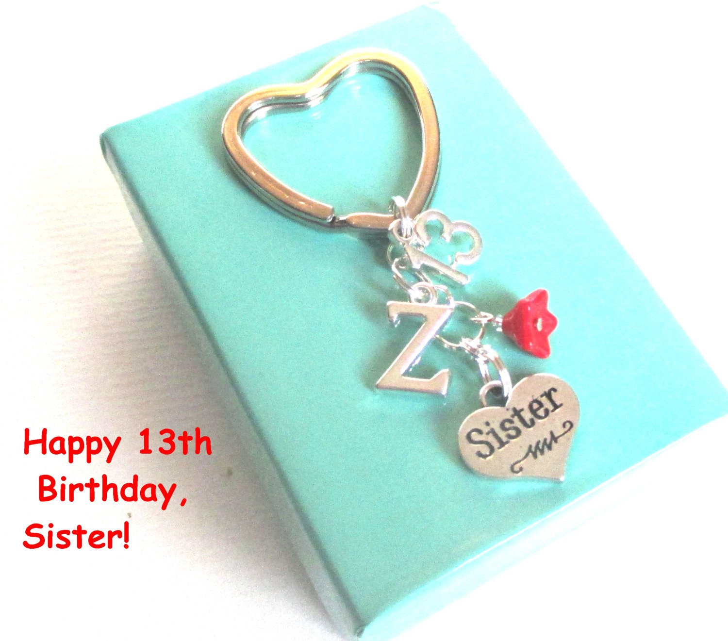 Best ideas about 13th Birthday Gifts . Save or Pin Sister 13th birthday t 13th keychain by DoodlepopDesigns Now.