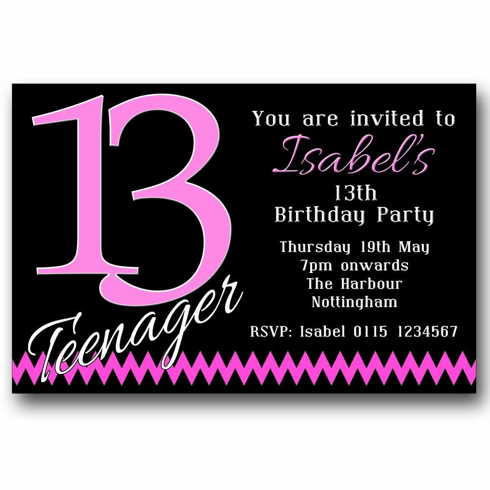 Best ideas about 13th Birthday Invitations . Save or Pin 10 Personalised BOYS & GIRLS Teenager 13th Birthday Party Now.