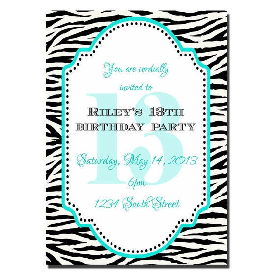 Best ideas about 13th Birthday Invitations . Save or Pin 13th birthday Party invitation Girl Birthday Invitation Now.