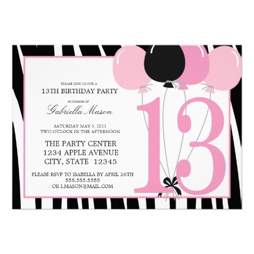 Best ideas about 13th Birthday Invitations . Save or Pin 128 best images about 13th Birthday Party on Pinterest Now.
