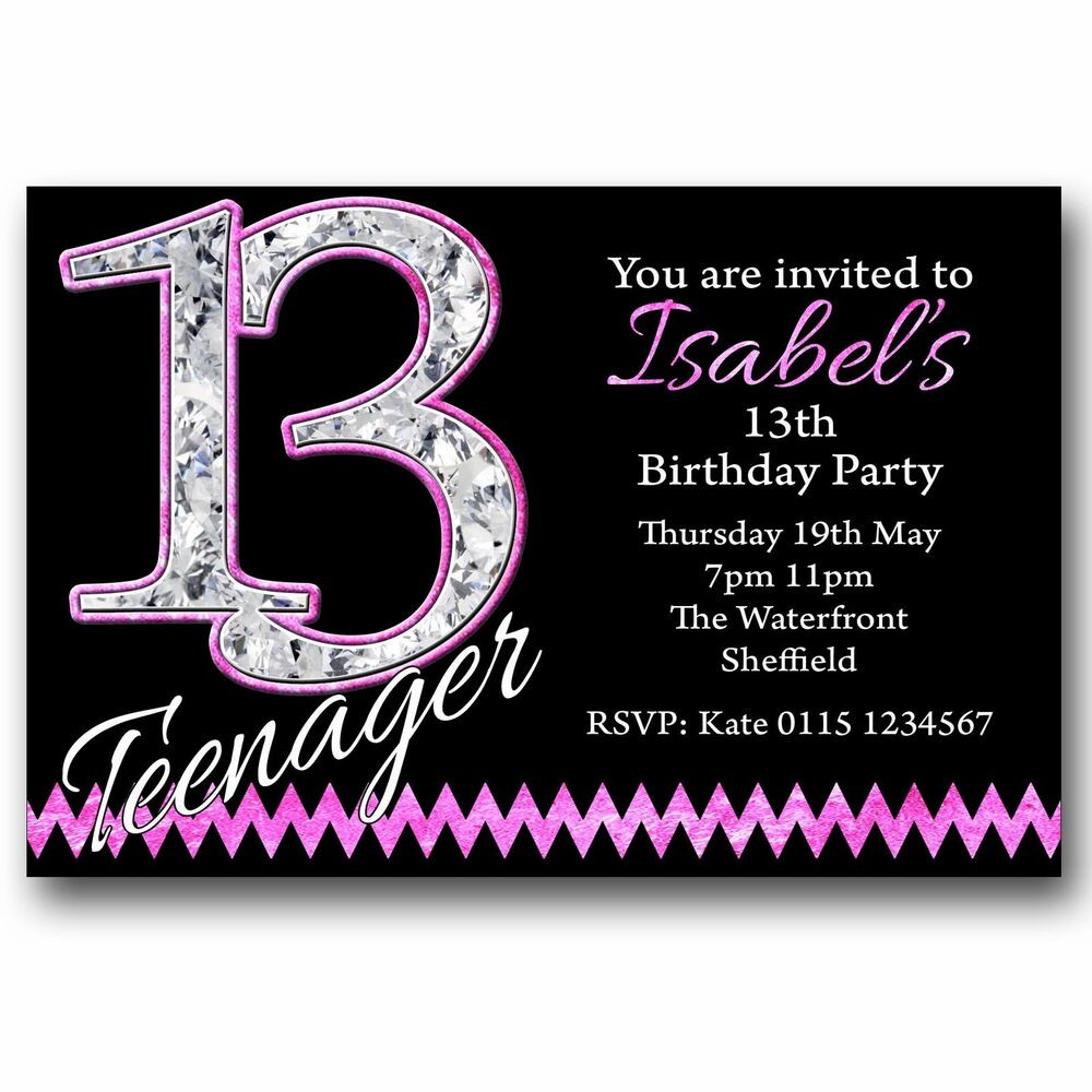 Best ideas about 13th Birthday Invitations . Save or Pin Personalised BOYS & GIRLS Teenager 13th Birthday Party Now.