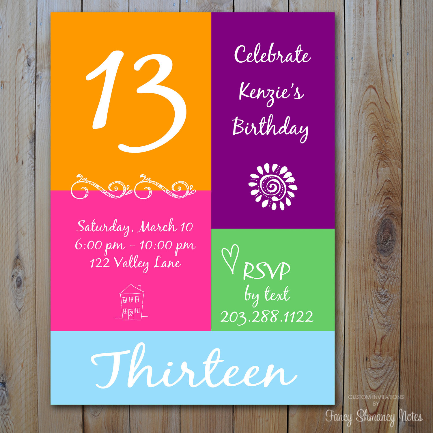 Best ideas about 13th Birthday Invitations . Save or Pin 13th Birthday Party Invitation Ideas – Bagvania FREE Now.