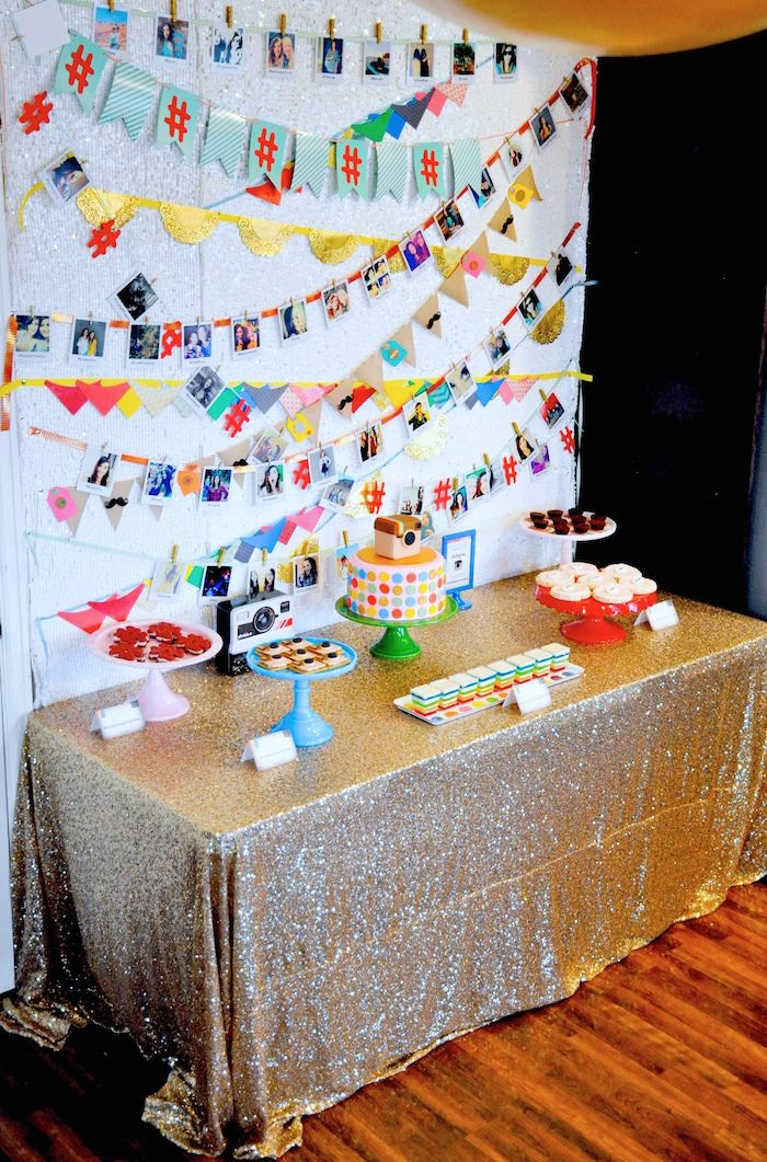 Best ideas about 13th Birthday Party Supplies . Save or Pin Kara s Party Ideas Glam Instagram Themed 13th Birthday Now.