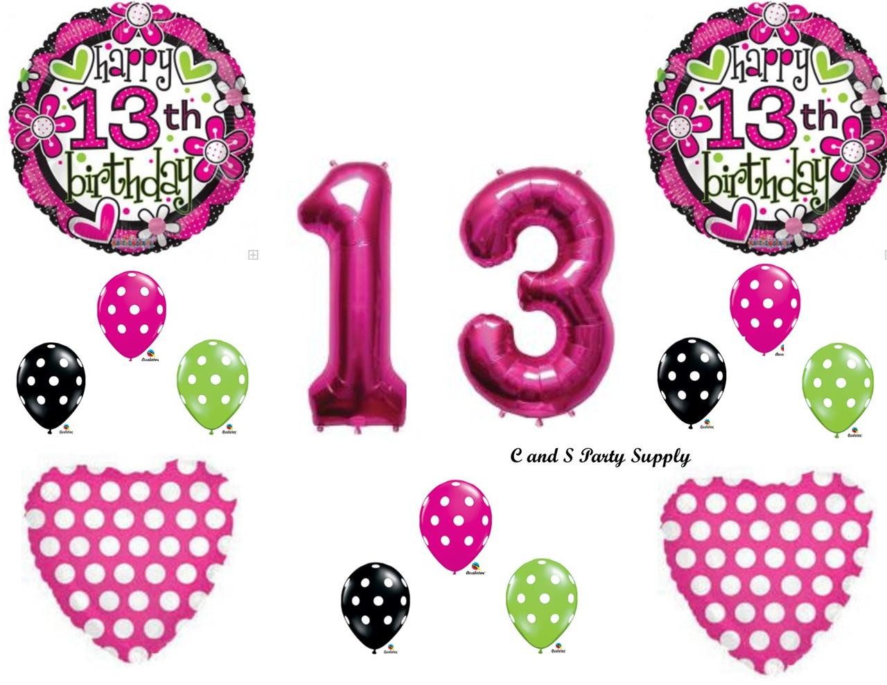 Best ideas about 13th Birthday Party Supplies . Save or Pin GIRL S 13TH Happy Birthday party Balloons Decoration Now.