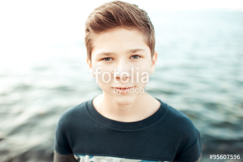 """Best ideas about 14 Year Old Boys Haircuts . Save or Pin """"Teenage blond boy 14 16 year old posing over sea Now."""