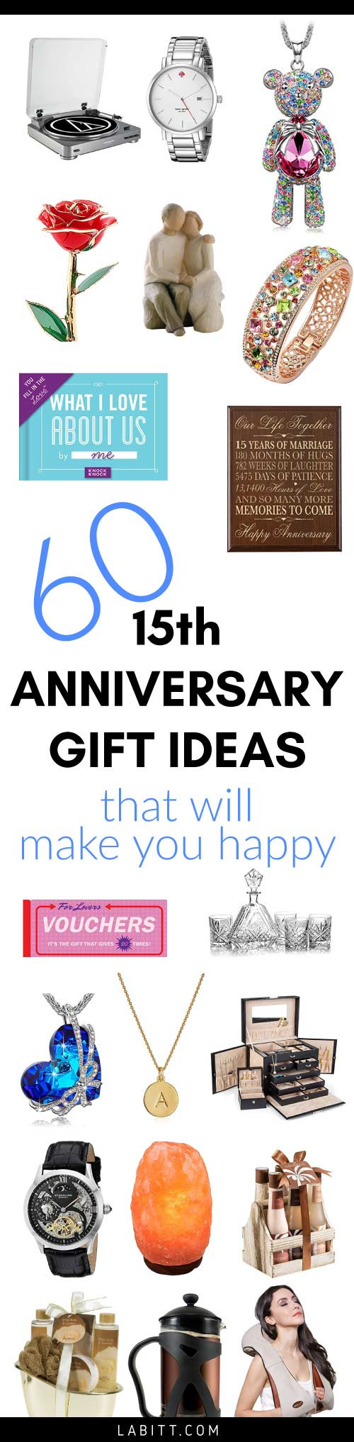 Best ideas about 15 Year Anniversary Gift Ideas For Her . Save or Pin Crystal 15th Wedding Anniversary Gifts for Wife Now.