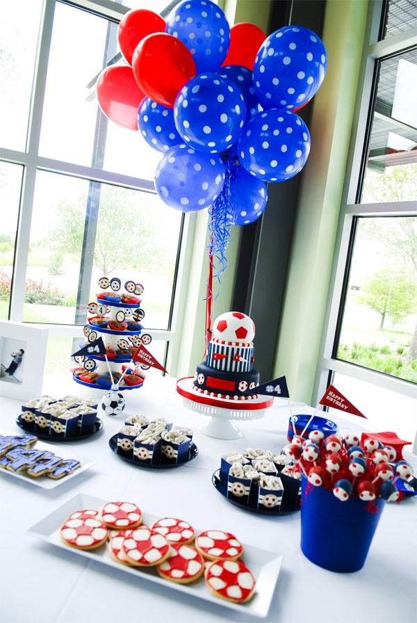 Best ideas about 15 Year Old Boy Birthday Party Ideas . Save or Pin Cumpleaños infantil temático de fútbol Now.