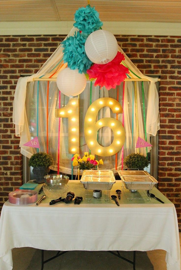 Best ideas about 16th Birthday Decorations . Save or Pin 1000 images about Krista s 16th birthday party on Now.