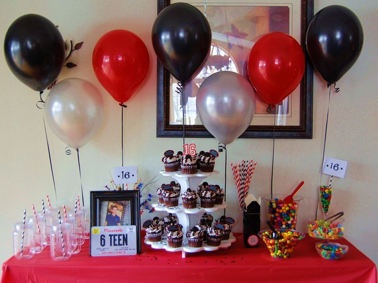 Best ideas about 16th Birthday Decorations For A Boy . Save or Pin SIXTEENTH BIRTHDAY for a GUY Sweet sixteen party ideas Now.