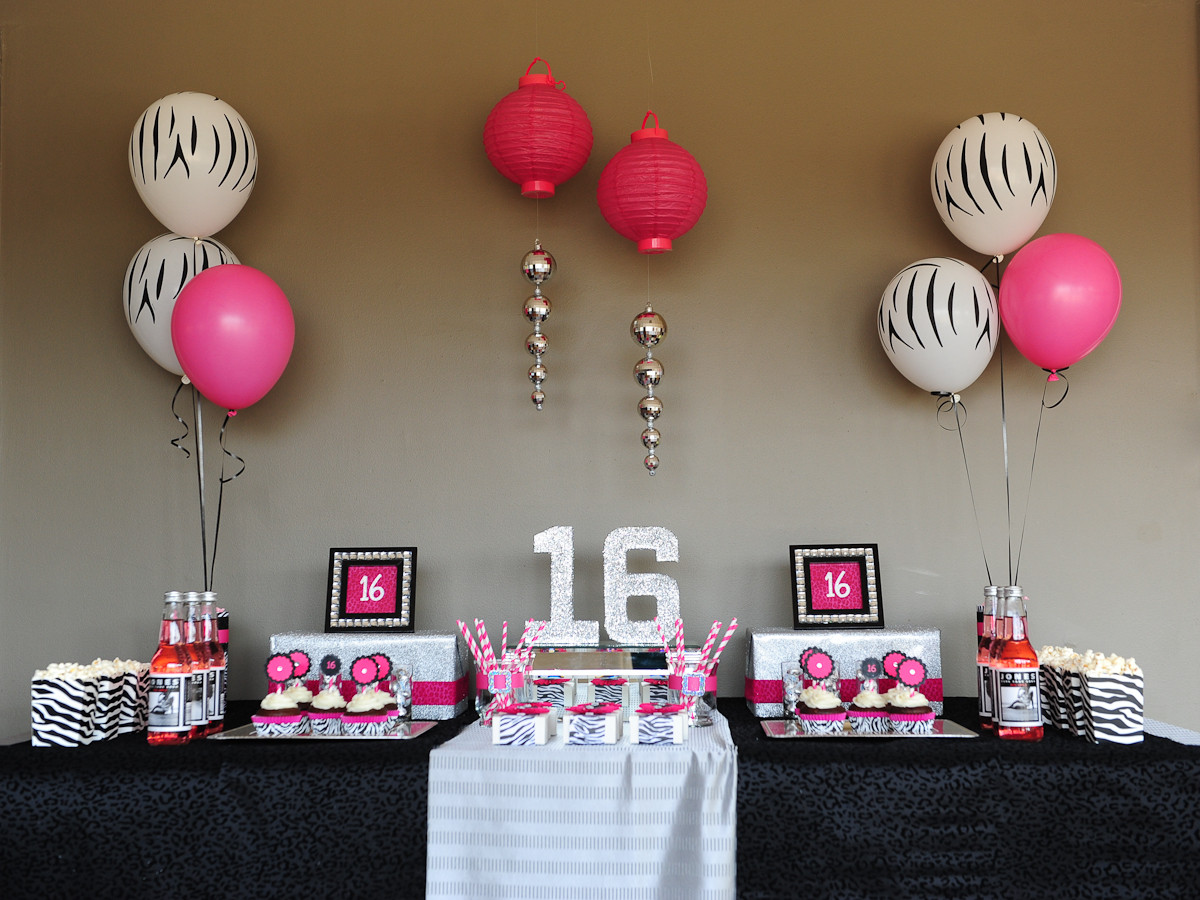 Best ideas about 16th Birthday Decorations . Save or Pin Sassy & Sweet Sixteen Taking a lil walk on the WILD SIDE Now.