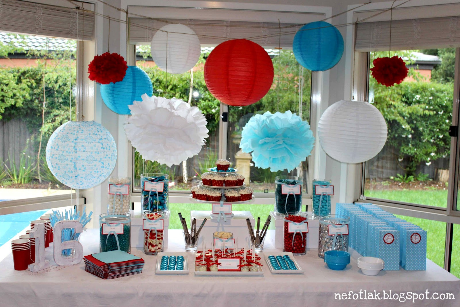 Best ideas about 16th Birthday Decorations . Save or Pin nefotlak 16th b day party candy bar dessert table Now.