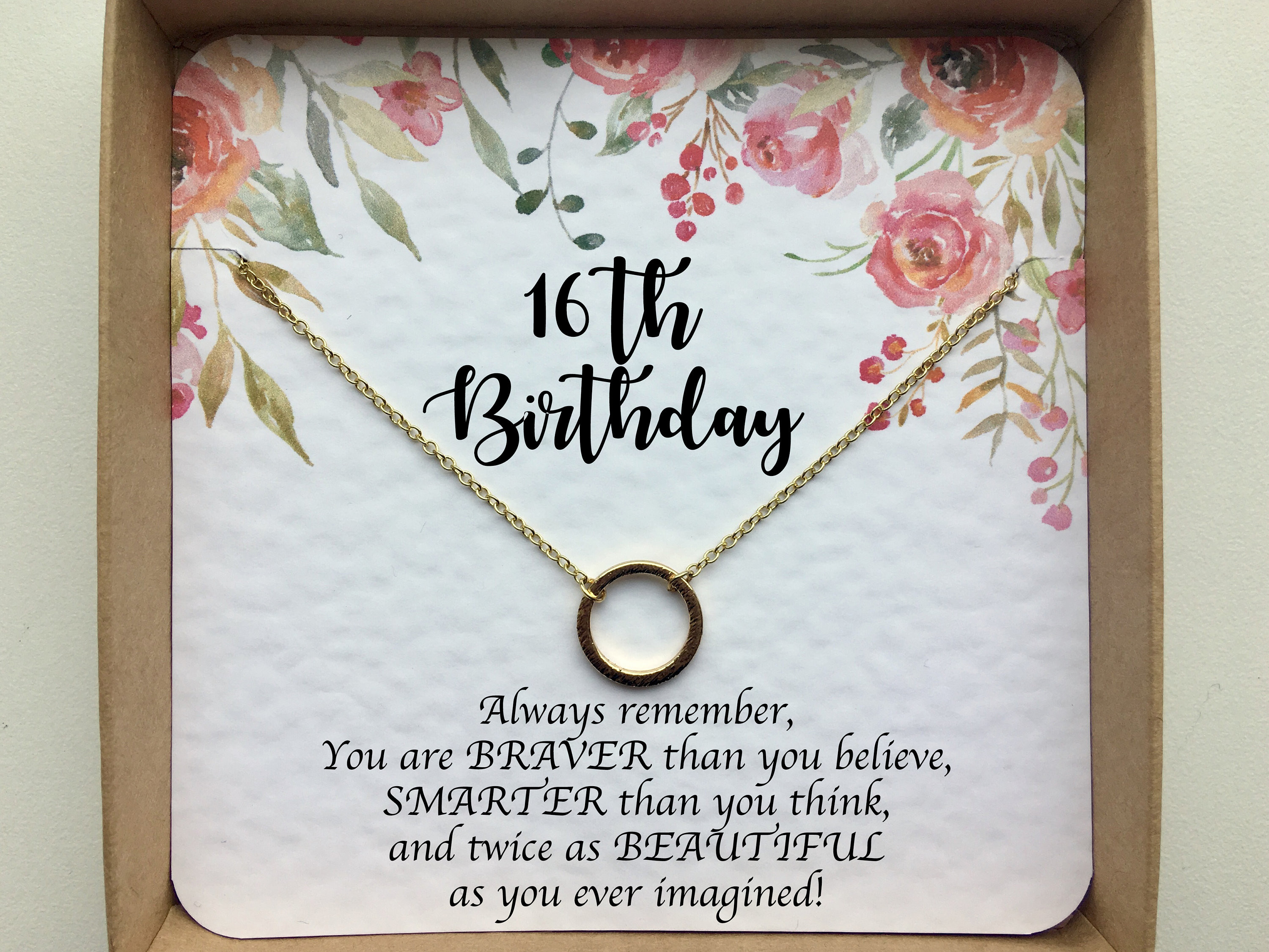 Best ideas about 16Th Birthday Gift Ideas For Daughter . Save or Pin 16th birthday t girl Sweet 16 t Sweet 16 necklace Now.