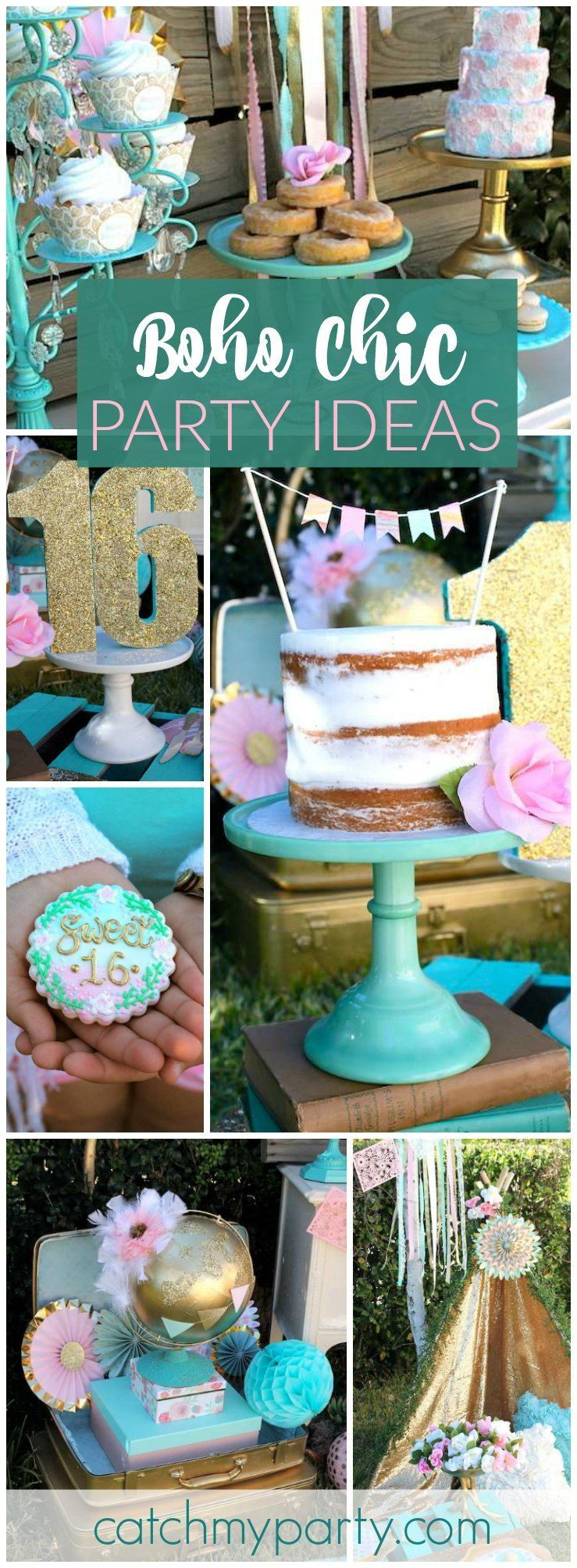 """Best ideas about 16th Birthday Party . Save or Pin Boho Chic Birthday """"Boho Sweet 16"""" Now."""