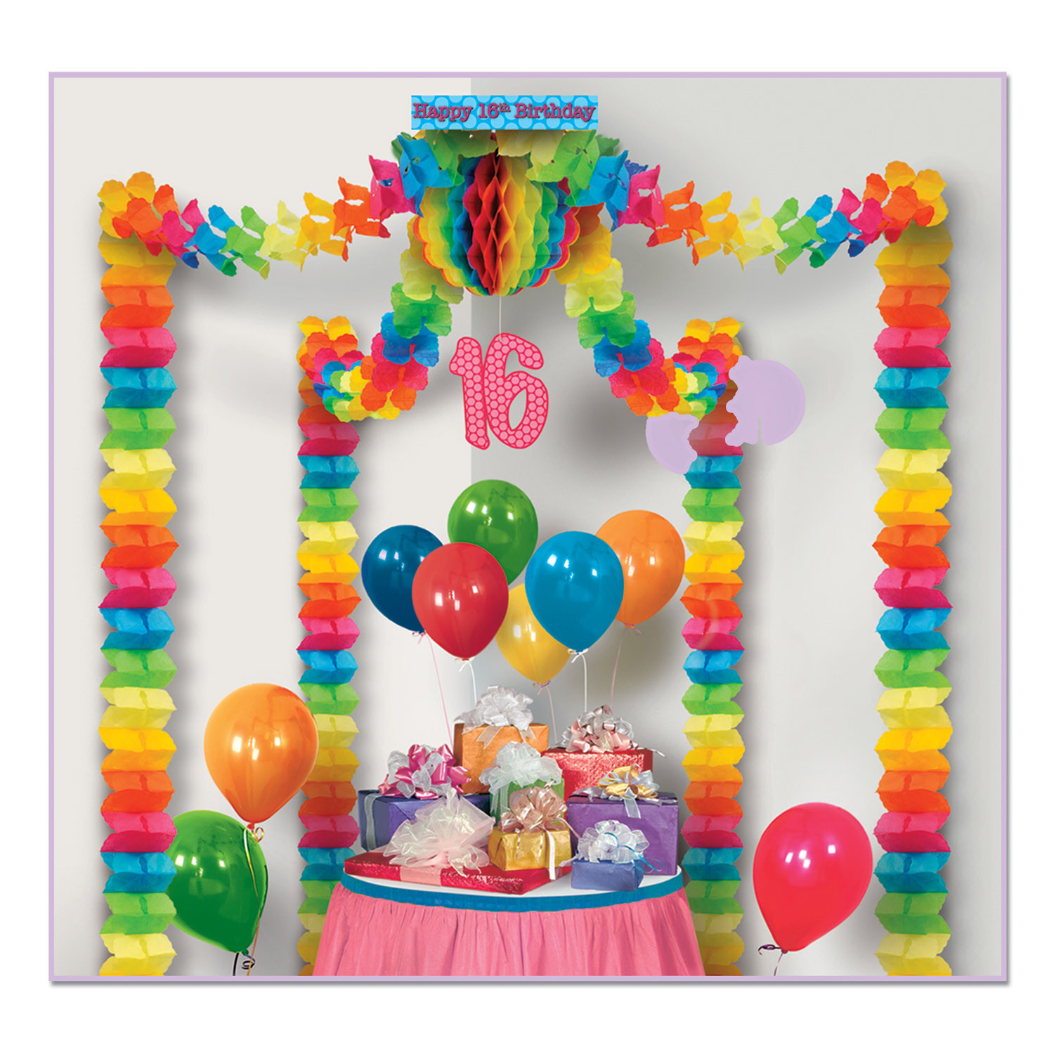 Best ideas about 16th Birthday Party . Save or Pin 16th Birthday Party Canopy Pack of 6 Now.