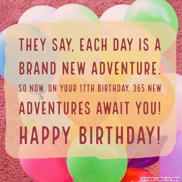 Best ideas about 17 Th Birthday Wishes . Save or Pin Happy 17th Birthday Wishes Now.