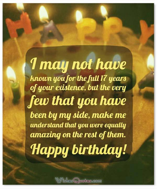 Best ideas about 17 Th Birthday Wishes . Save or Pin Heartfelt 17th Happy Birthday Wishes and Now.