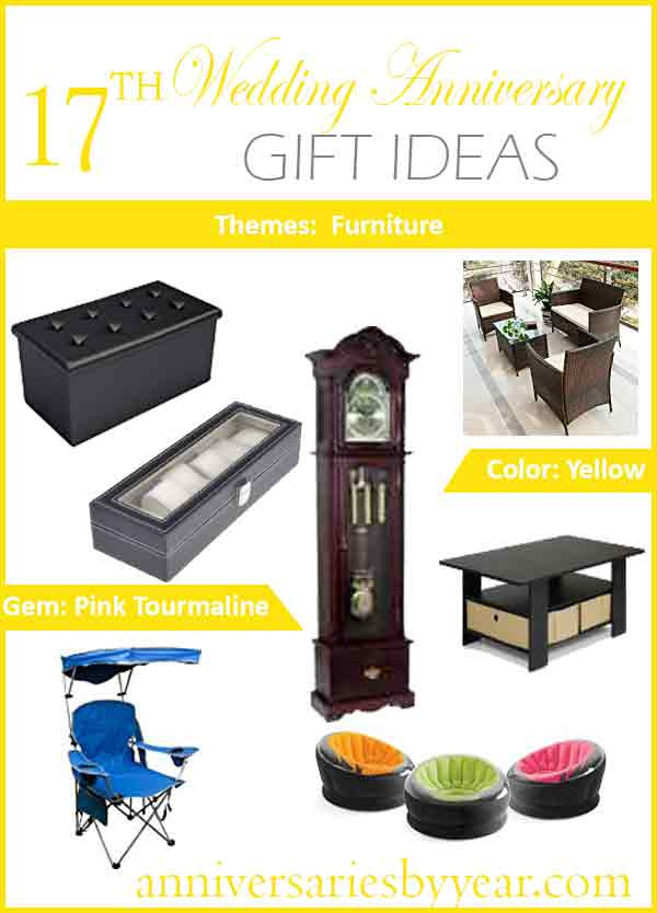 Best ideas about 17Th Anniversary Gift Ideas . Save or Pin 17th Anniversary Seventeenth Wedding Anniversary Gift Ideas Now.