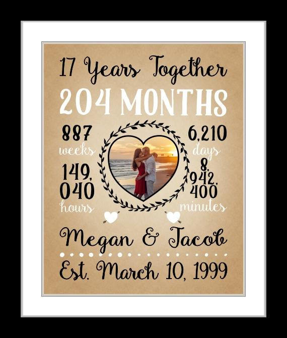 Best ideas about 17Th Anniversary Gift Ideas . Save or Pin 1 17th wedding anniversary 17 years to her anniversary Now.
