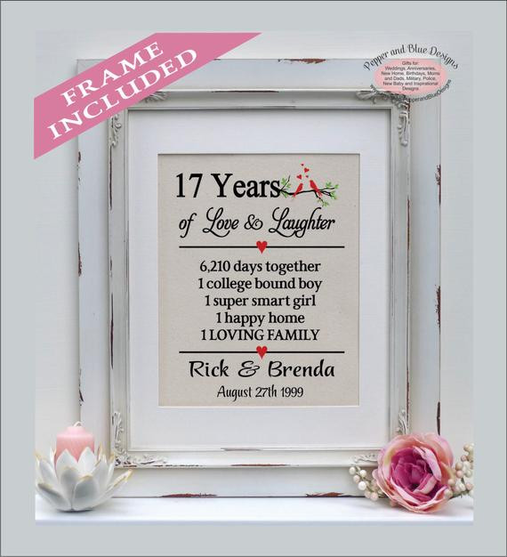 Best ideas about 17Th Anniversary Gift Ideas . Save or Pin 17th wedding anniversary ts 17 years married 17 years Now.