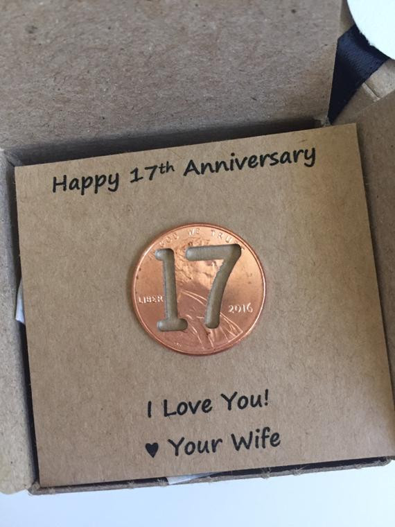 Best ideas about 17Th Anniversary Gift Ideas . Save or Pin 17th Anniversary Happy Anniversary Anniversary Gift Now.