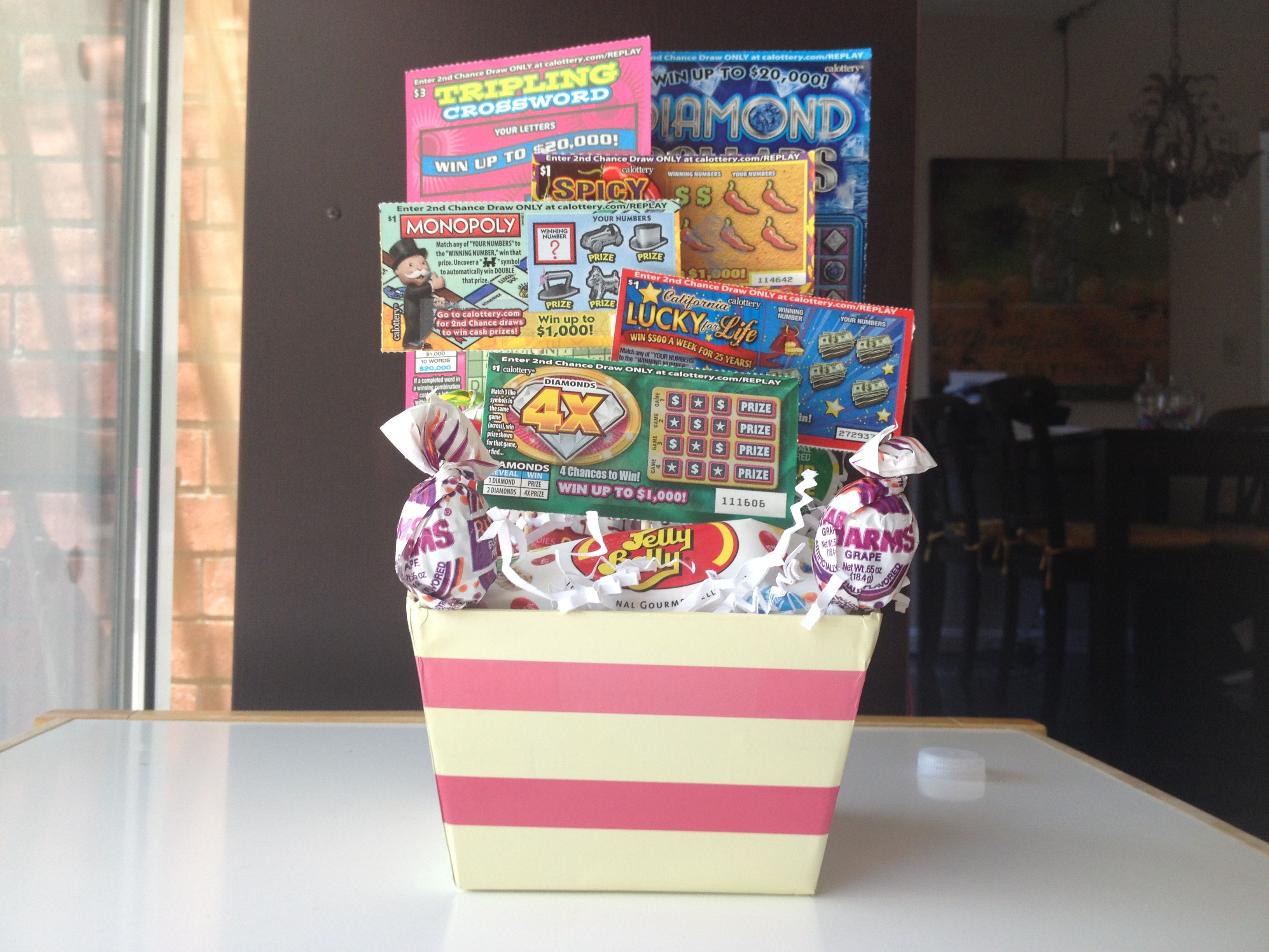 Best ideas about 18 Birthday Present Ideas . Save or Pin 18 birthday t basket Scratchers and candy Now.