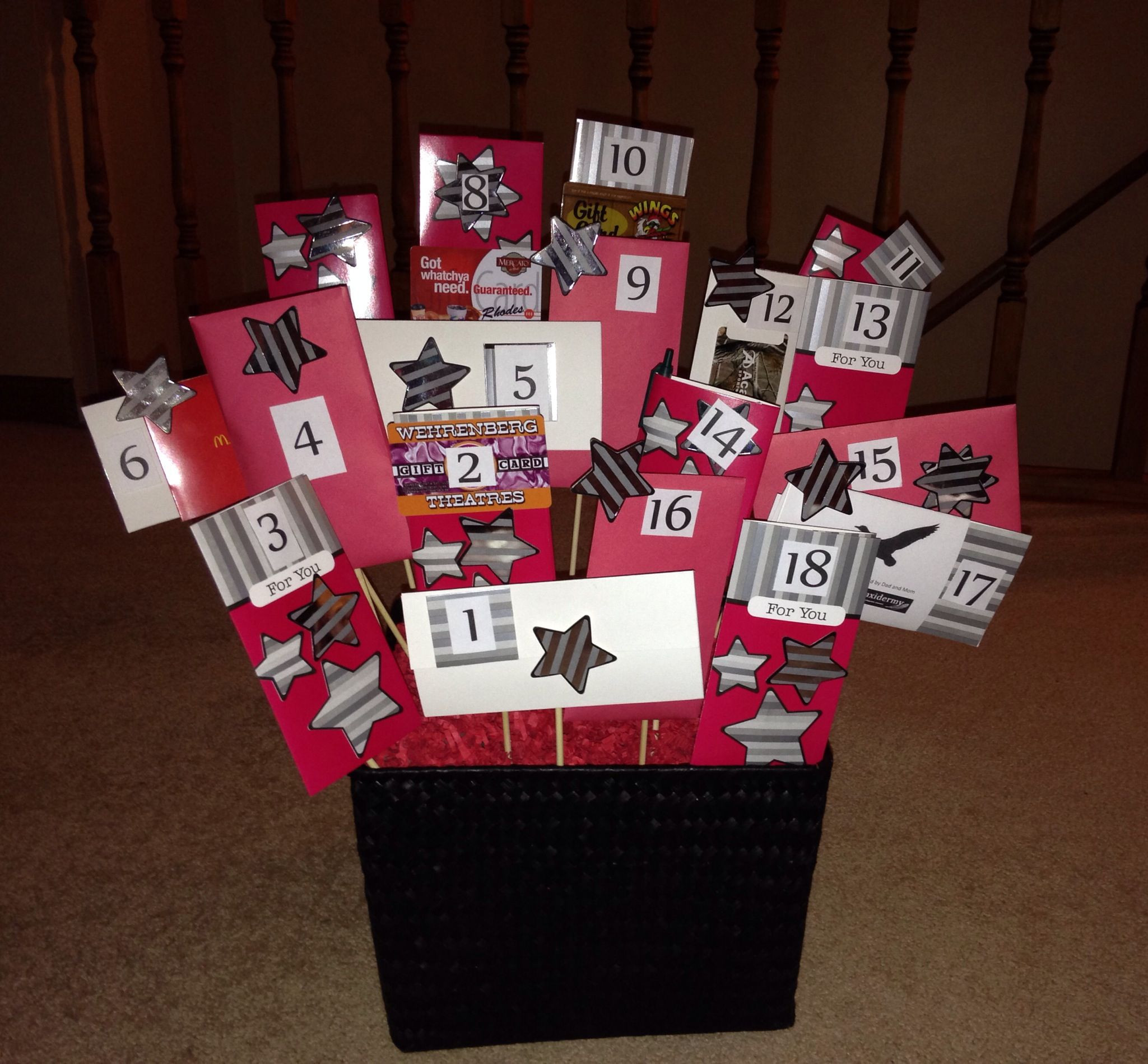 Best ideas about 18Th Bday Gift Ideas For Her . Save or Pin 18th birthday basket for my son s birthday Filled with Now.