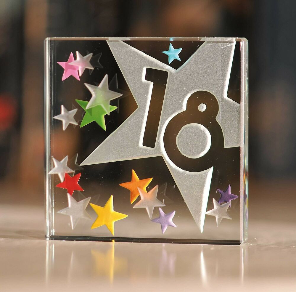 Best ideas about 18Th Bday Gift Ideas For Her . Save or Pin Happy 18th Birthday Gifts Idea Spaceform Glass Keepsake Now.