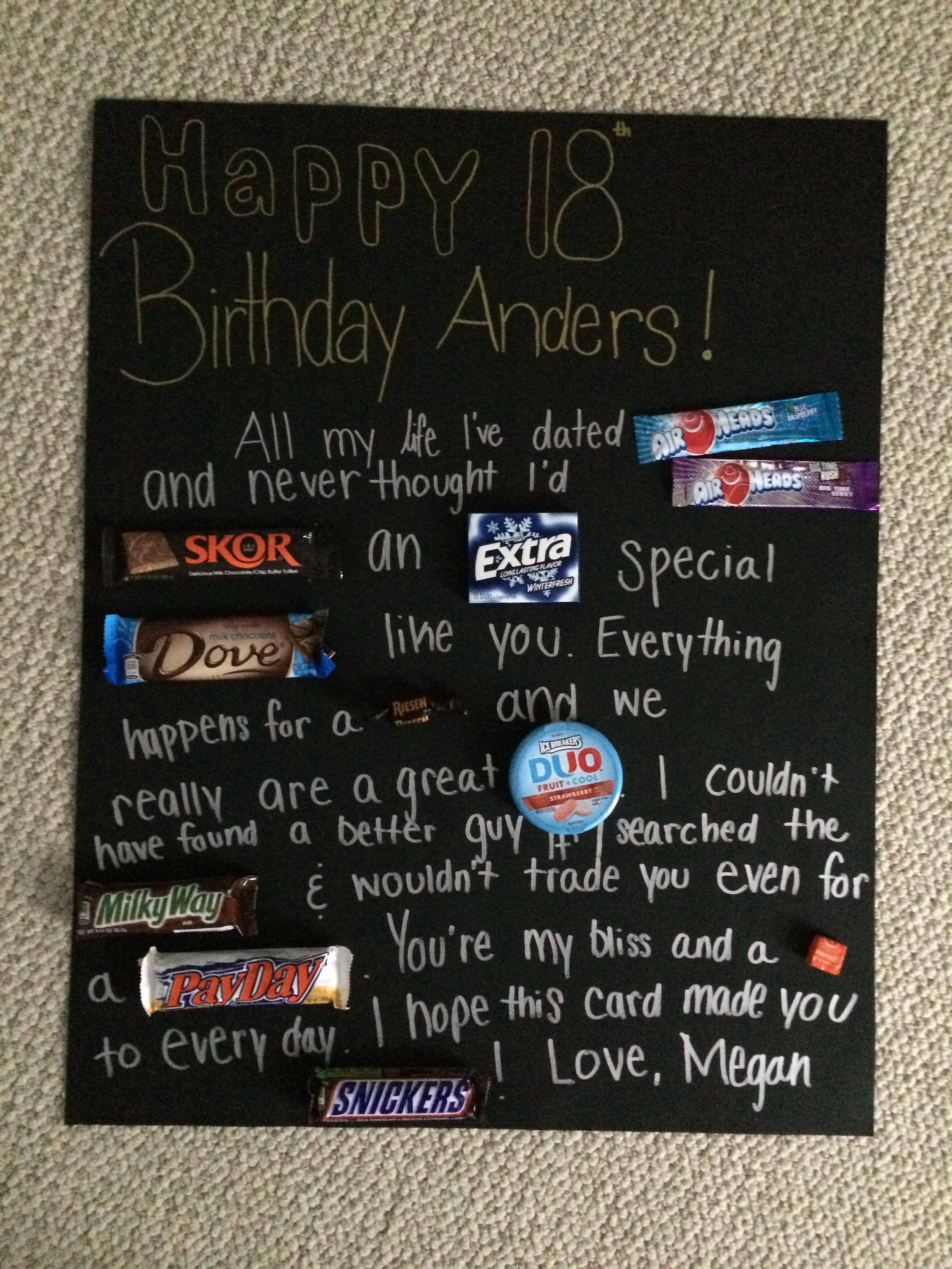 Best ideas about 18Th Birthday Gift Ideas For Boyfriend . Save or Pin Boyfriend s 18th birthday card Quotes Pinterest Now.