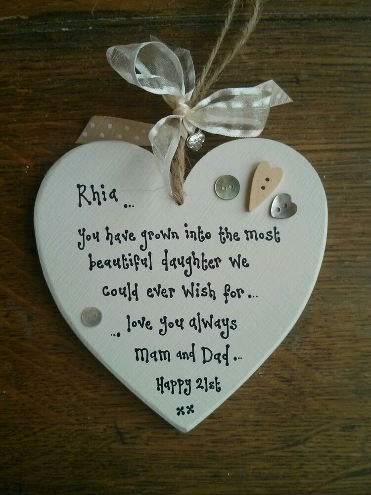 Best ideas about 18th Birthday Gift Ideas For Daughter . Save or Pin Chic Personalised Daughter GIFT 21ST 18TH Birthday Present Now.