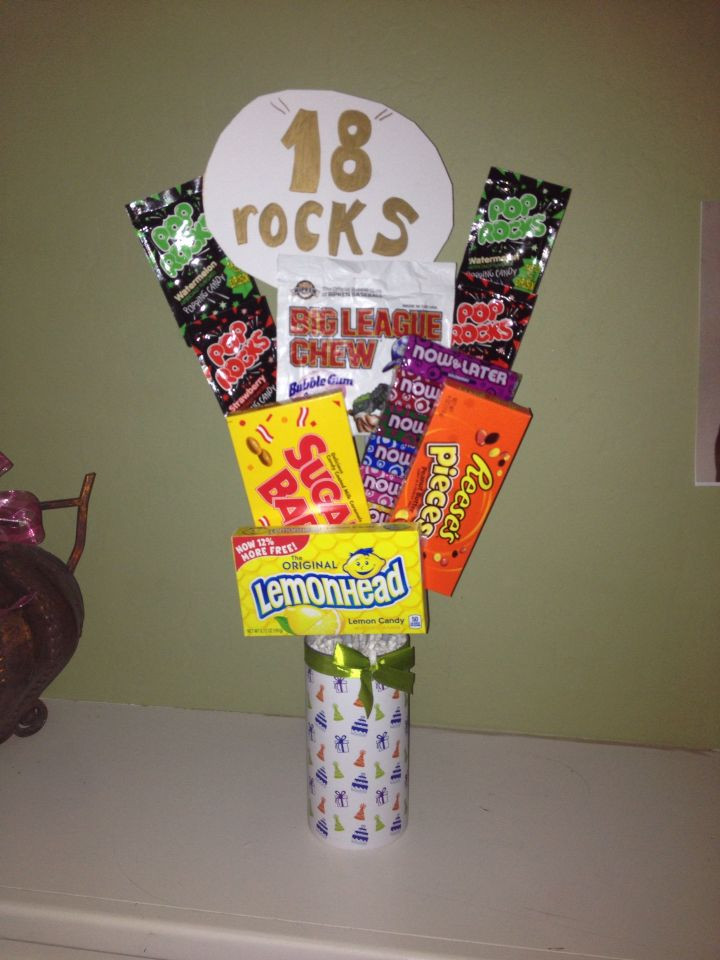 Best ideas about 18Th Birthday Gift Ideas For Son . Save or Pin A lil candy bouquet for my sons 18th birthday made by Now.