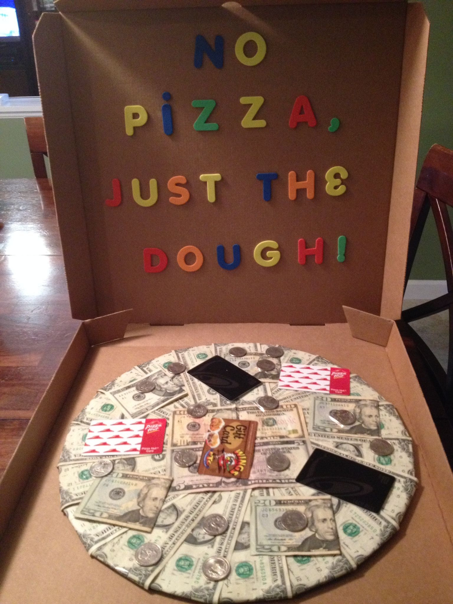 Best ideas about 18Th Birthday Gift Ideas For Son . Save or Pin No pizza just the dough Made this for my son s 19th Now.