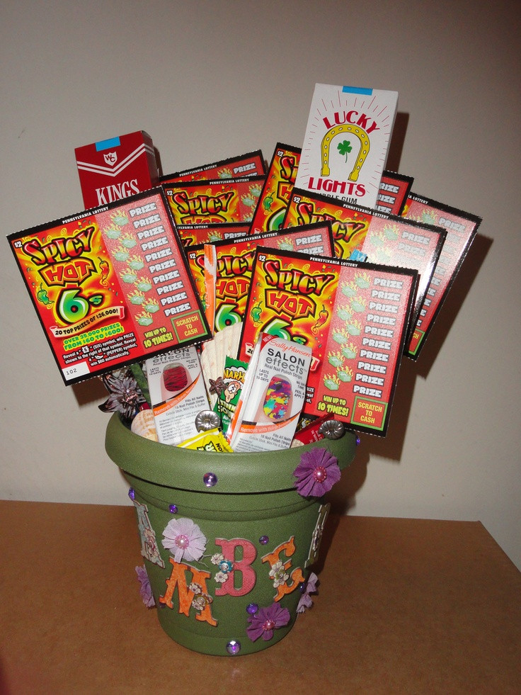 """Best ideas about 18th Birthday Gift Ideas . Save or Pin personalized 18th birthday """"bouquet"""" like the idea of a Now."""