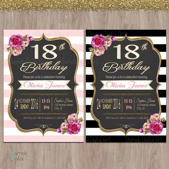 Best ideas about 18th Birthday Party Invitations . Save or Pin 18th birthday invitations 18th birthday party invitations Now.