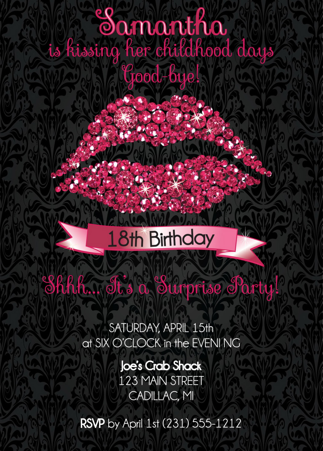 Best ideas about 18th Birthday Party Invitations . Save or Pin 18th Birthday Invitation 18th Birthday Party Invitation Hot Now.