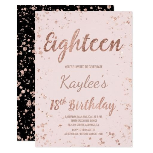 Best ideas about 18th Birthday Party Invitations . Save or Pin 438 best 18th Birthday Party Invitations images on Now.