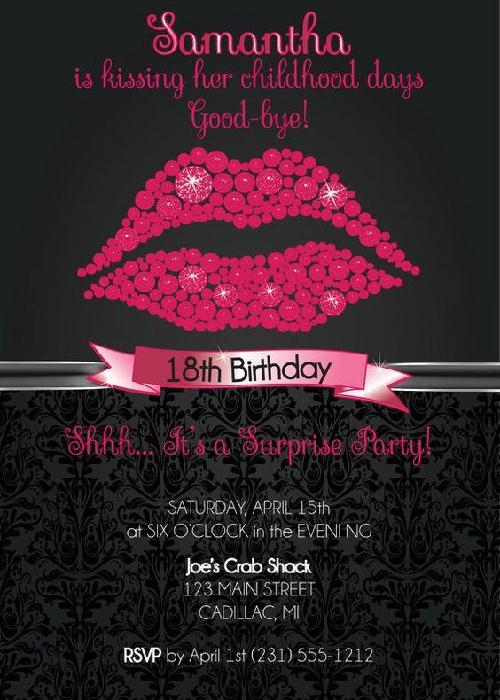 Best ideas about 18th Birthday Party Invitations . Save or Pin 18th Birthday Invitation 18th Birthday Party Invitation Now.