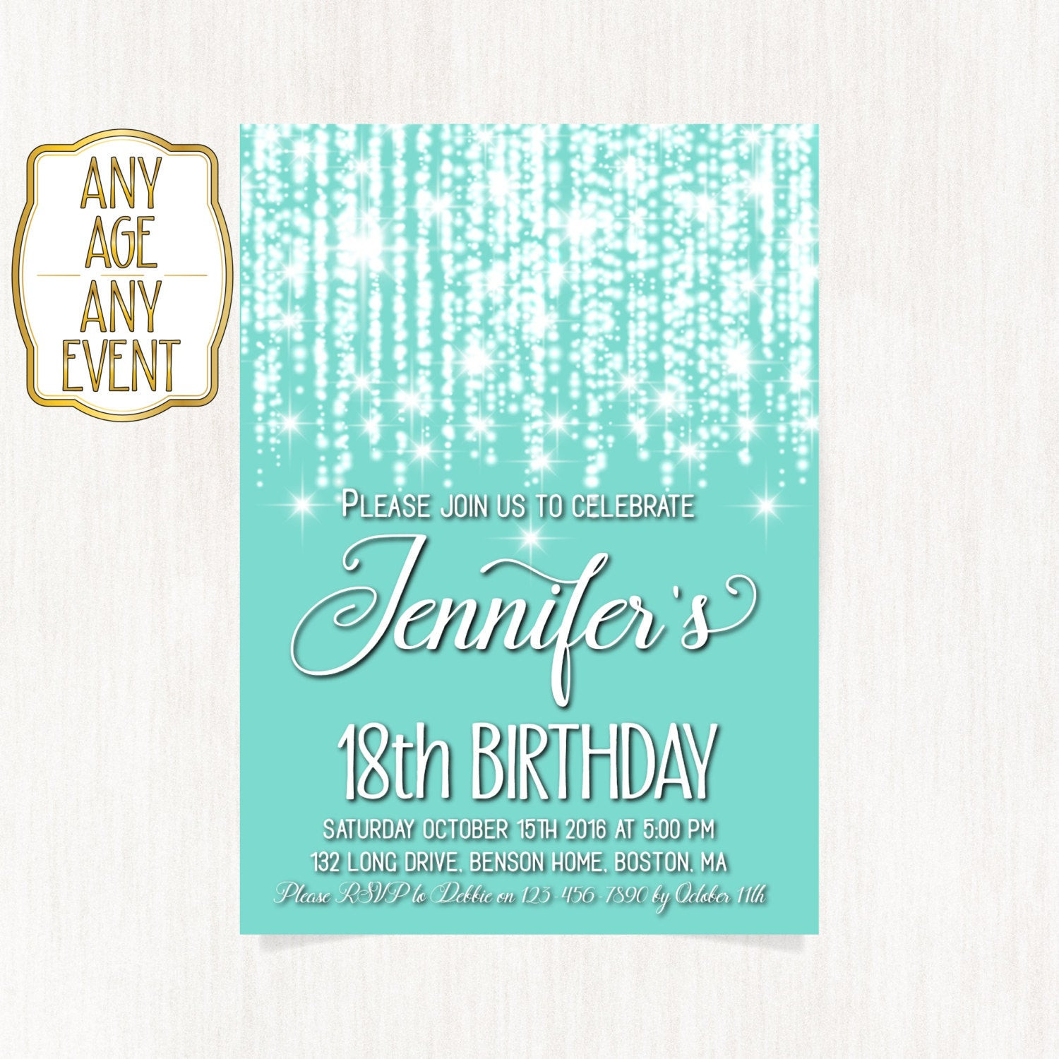 Best ideas about 18th Birthday Party Invitations . Save or Pin 18th birthday invitation Luxury invitation Birthday party Now.