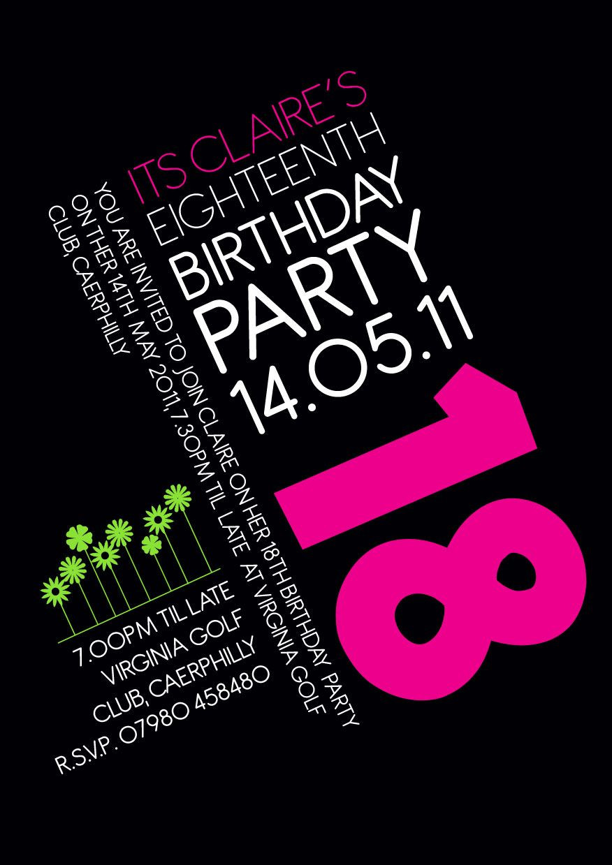 Best ideas about 18th Birthday Party Invitations . Save or Pin 18th Birthday Invitation Idea Party Now.