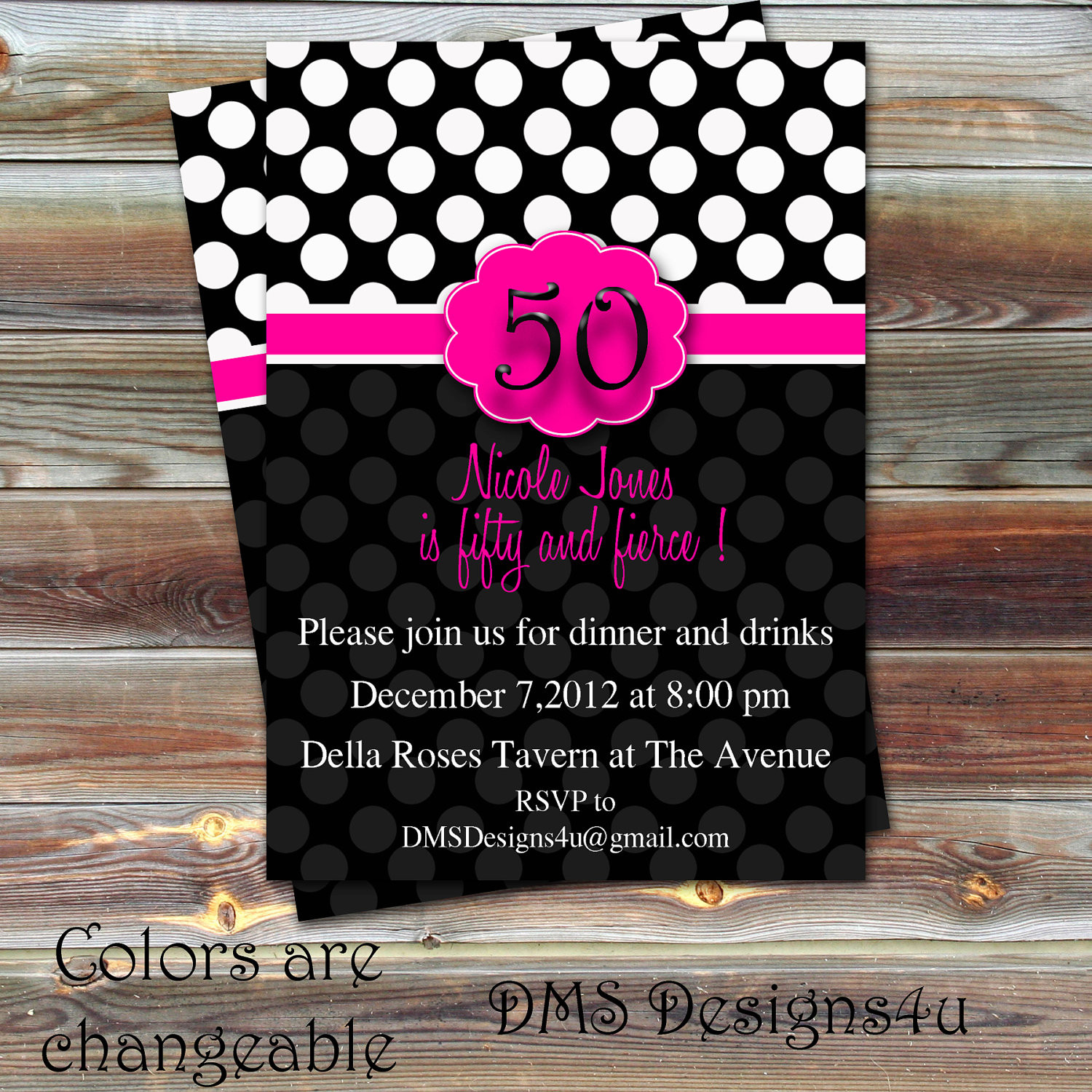 Best ideas about 18th Birthday Party Invitations . Save or Pin Polka Dot Milestone Birthday Invitation 18th 21st 30th Now.