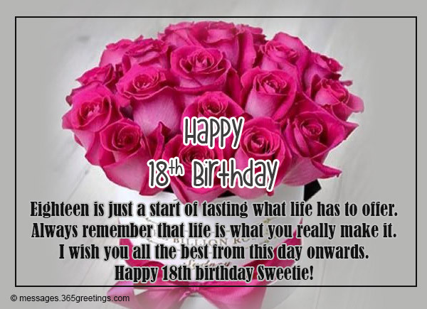 Best ideas about 18th Birthday Quotes For Daughter . Save or Pin 18th Birthday Wishes Messages and Greetings Now.