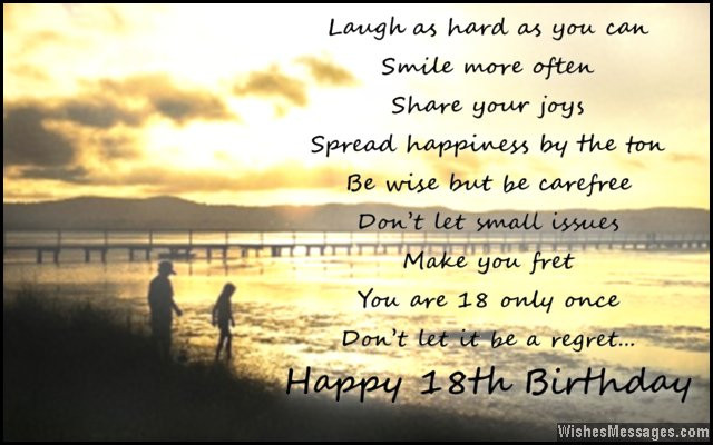 Best ideas about 18th Birthday Quotes For Daughter . Save or Pin 18th Birthday Wishes for Son or Daughter Messages from Now.