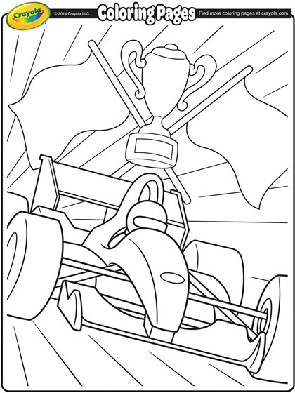 Best ideas about 1950'S Printable Coloring Pages . Save or Pin Formula 1 Racecar Coloring Page Now.